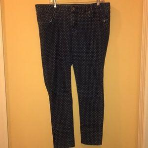 """Denim - """"Merona"""" Ankle skinny jeans size 14"""